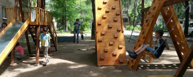 Новые детские площадки в Саратове